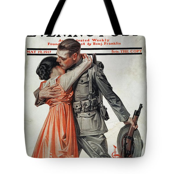 Saturday Evening Post Tote Bag by Granger