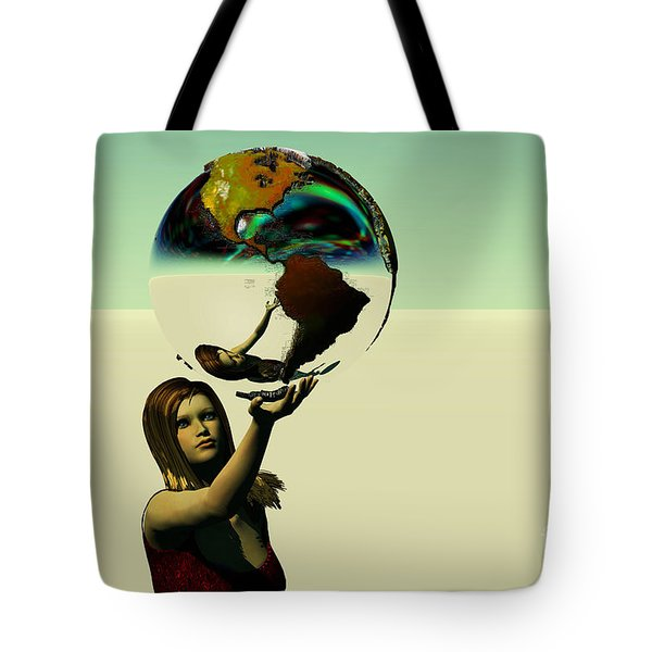 Save The Earth Tote Bag by Corey Ford