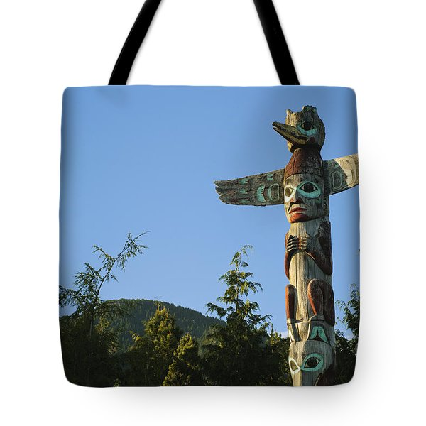 Saxman Totem Park Tote Bag by Greg Vaughn - Printscapes