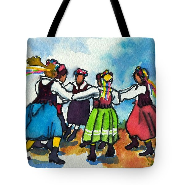 Scandinavian Dancers Tote Bag by Kathy Braud