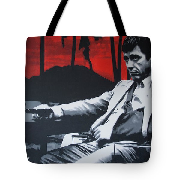 Scarface - Sunset 2013 Tote Bag by Luis Ludzska