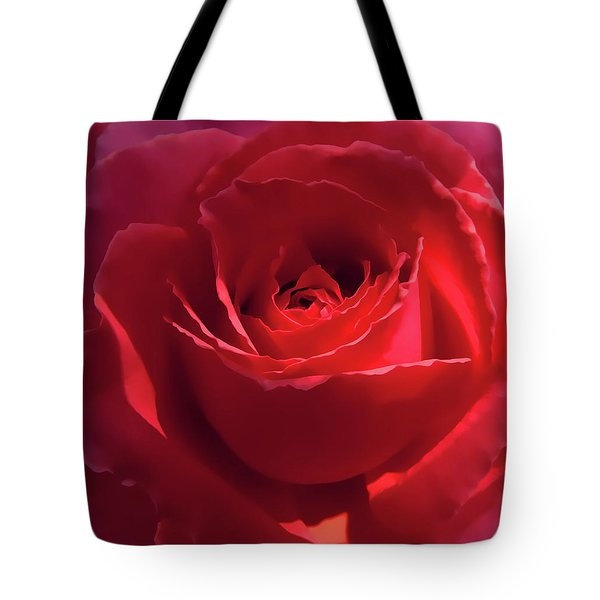 Scarlet Rose Flower Tote Bag by Jennie Marie Schell