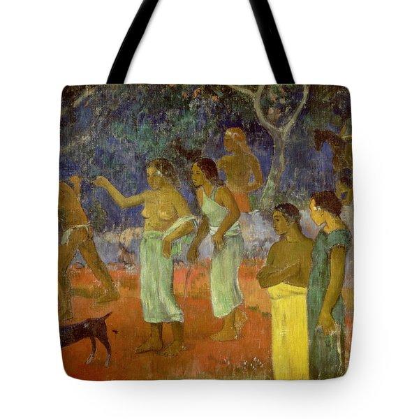 Scene From Tahitian Life Tote Bag by Paul Gauguin