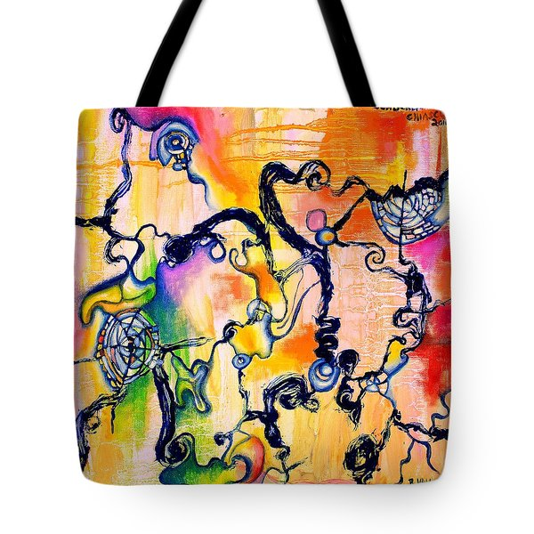 Schlieren Chiarascuro Tote Bag by Regina Valluzzi