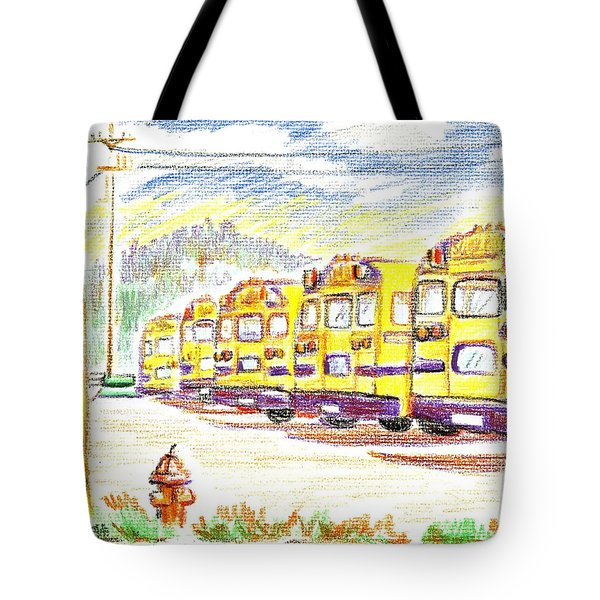 School Bussiness Tote Bag by Kip DeVore