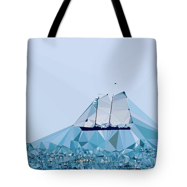 Schooner, Abstracted Tote Bag by Sandy Taylor