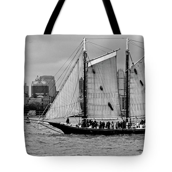 Schooner On New York Harbor No. 1-1 Tote Bag by Sandy Taylor