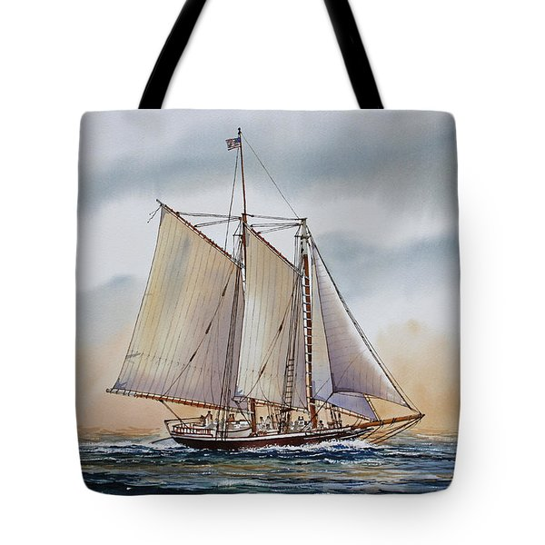 Schooner STEPHEN TABER Tote Bag by James Williamson