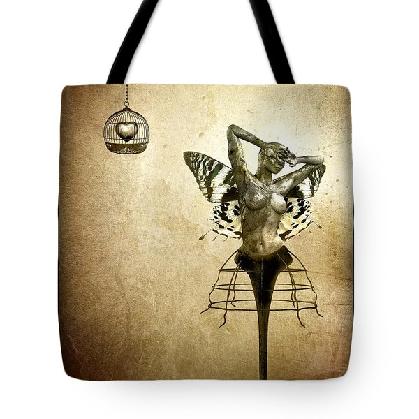 Scream Of A Butterfly Tote Bag by Jacky Gerritsen