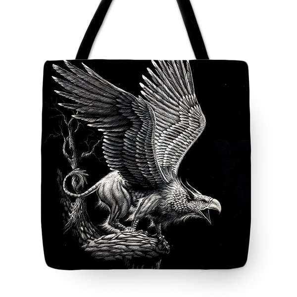 Screaming Griffon Tote Bag by Stanley Morrison