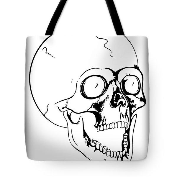 screaming skull Tote Bag by Michal Boubin