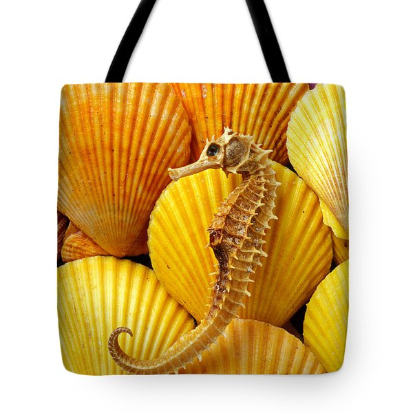 Sea Horse And Sea Shells Tote Bag by Garry Gay