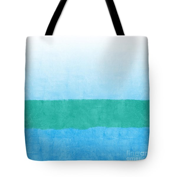 Sea Of Blues Tote Bag by Linda Woods