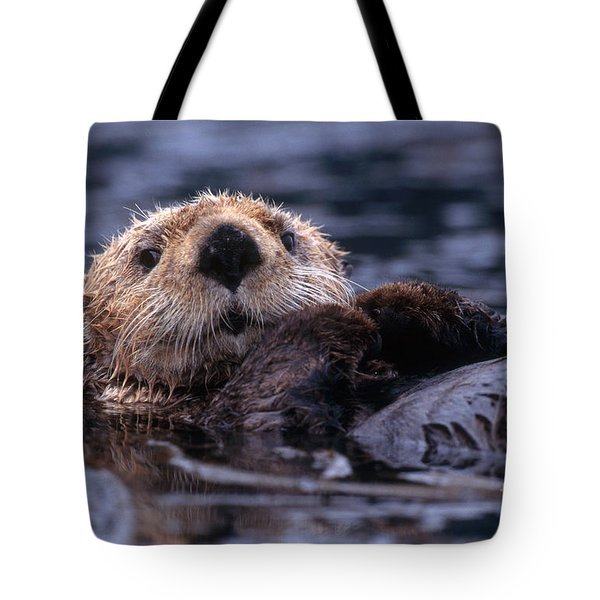 Sea Otter Tote Bag by Yva Momatiuk and John Eastcott and Photo Researchers