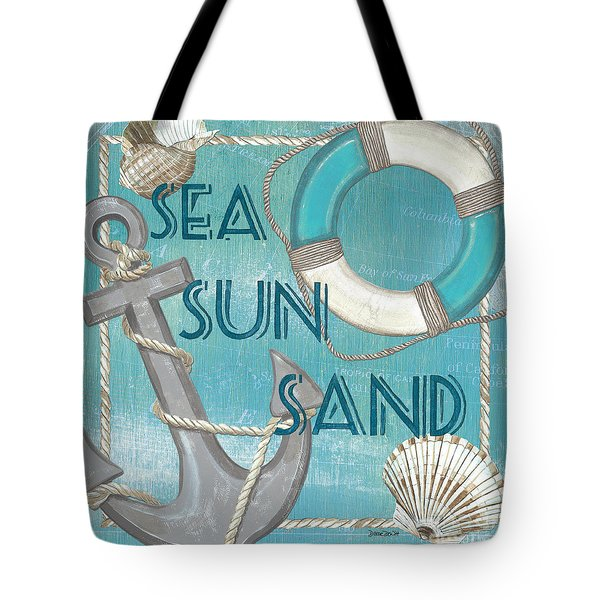 Sea Sun Sand Tote Bag by Debbie DeWitt