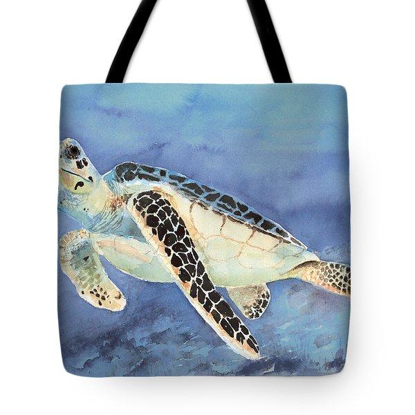 Sea Turtle Tote Bag by Arline Wagner