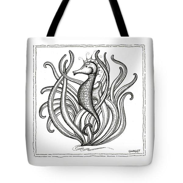 Seahorse Tote Bag by Stephanie Troxell