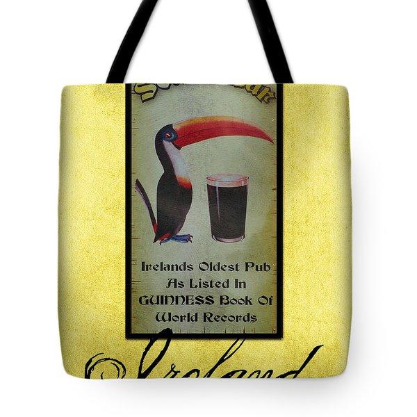 Seans Bar Guinness Pub Sign Athlone Ireland Tote Bag by Teresa Mucha