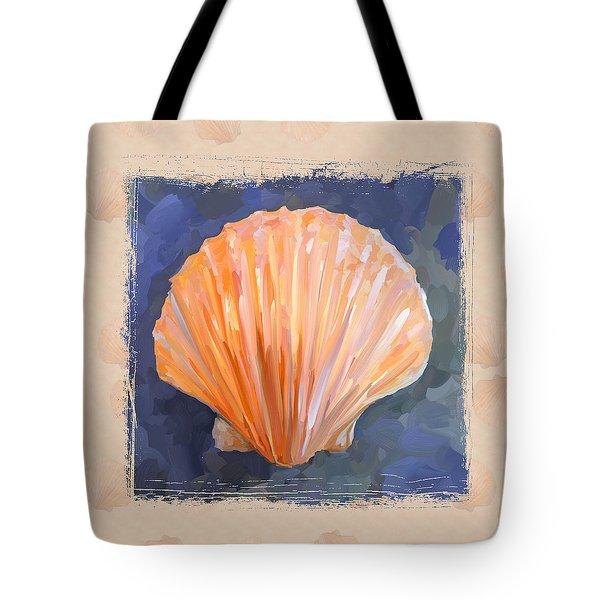 Seashell I Grunge With Border Tote Bag by Jai Johnson