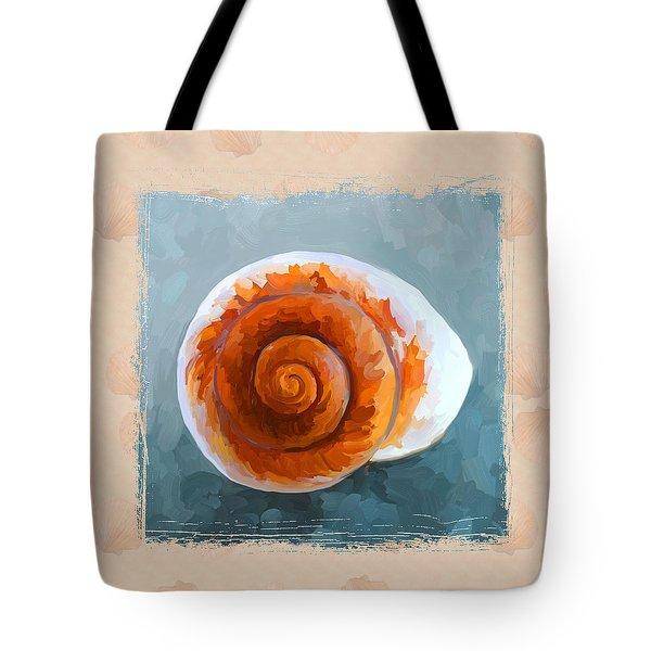 Seashell II Grunge With Border Tote Bag by Jai Johnson