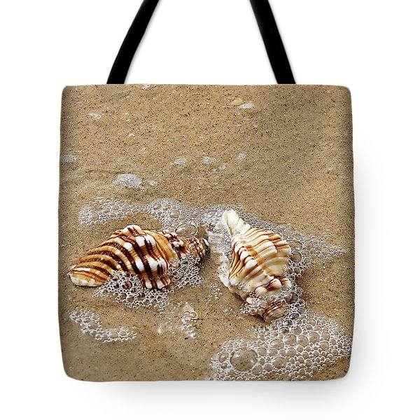 Seashells And Bubbles 2 Tote Bag by Kaye Menner