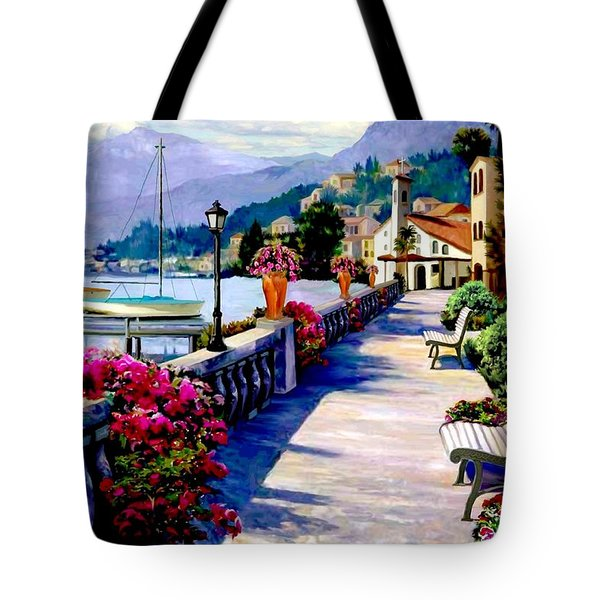 Seaside Pathway Tote Bag by Ronald Chambers