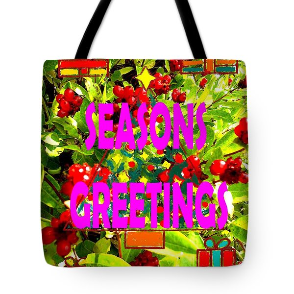 Seasons Greetings 10 Tote Bag by Patrick J Murphy
