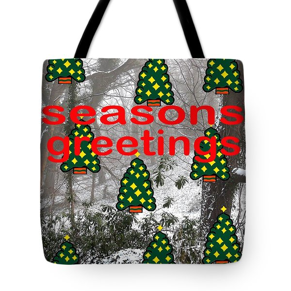 Seasons Greetings 8 Tote Bag by Patrick J Murphy