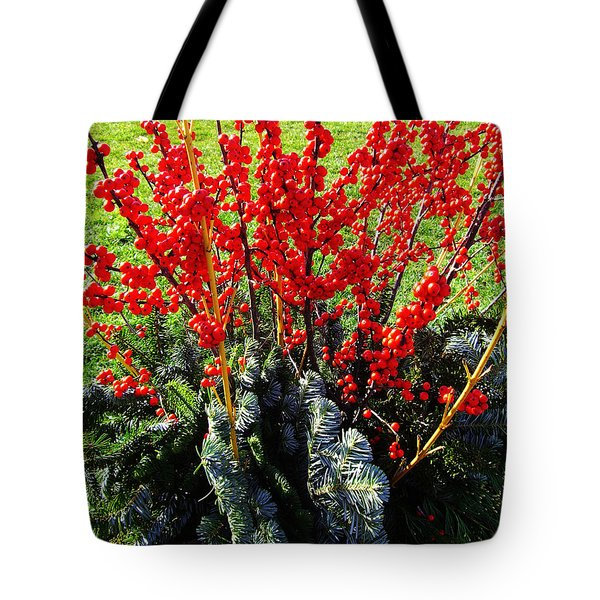 Seasons Greetings Tote Bag by Xueling Zou