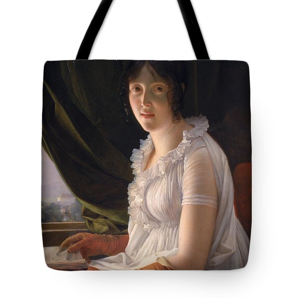 Seated Portrait Of Marie Philippe Claude Walbonne Tote Bag by Francois Pascal Simon Gerard