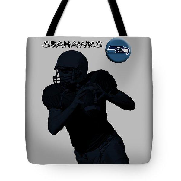 Seattle Seahawks Football Tote Bag by David Dehner