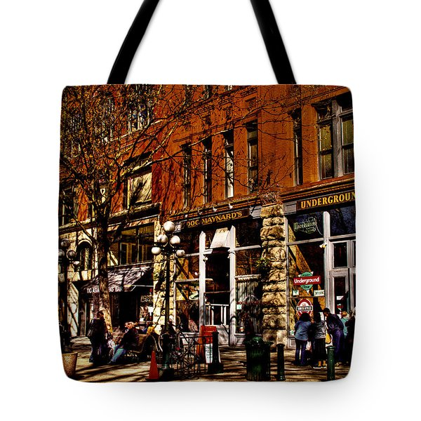 Seattle's Underground Tour Tote Bag by David Patterson