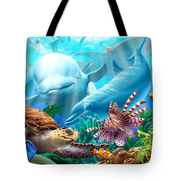 Seavilians Tote Bag by Jerry LoFaro