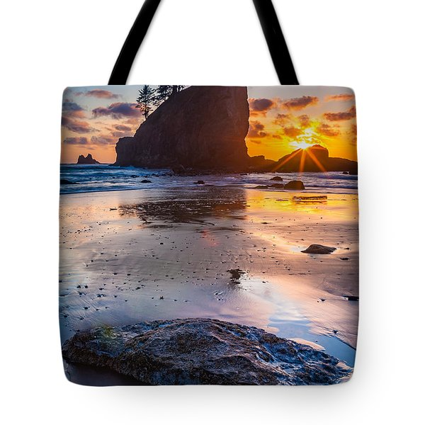 Second Beach Rock Tote Bag by Inge Johnsson
