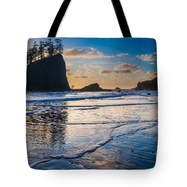Second Beach Waves Tote Bag by Inge Johnsson