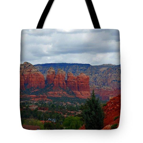 Sedona Mountains Tote Bag by Susanne Van Hulst