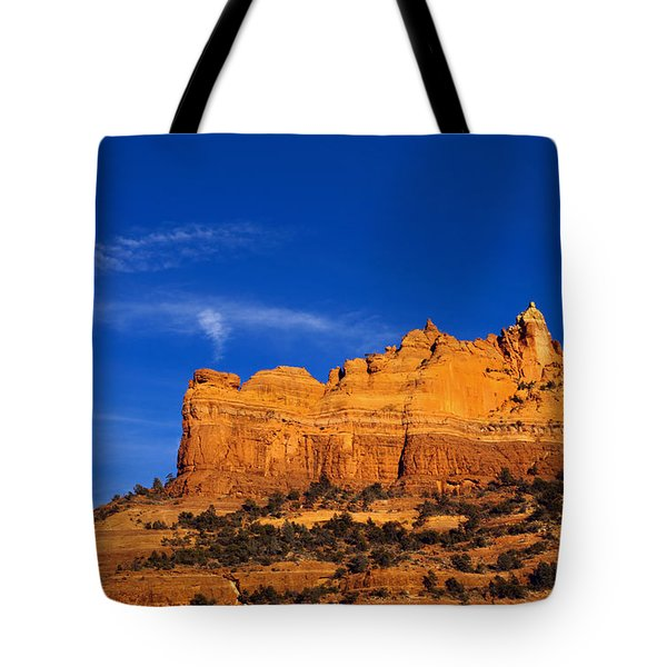 Sedona Smoke Signals Tote Bag by Mike  Dawson
