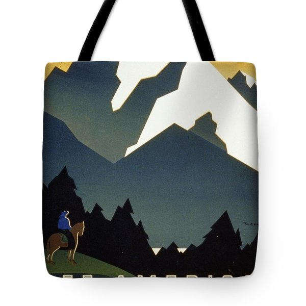 See America Welcome To Montana Tote Bag by M Weitzman