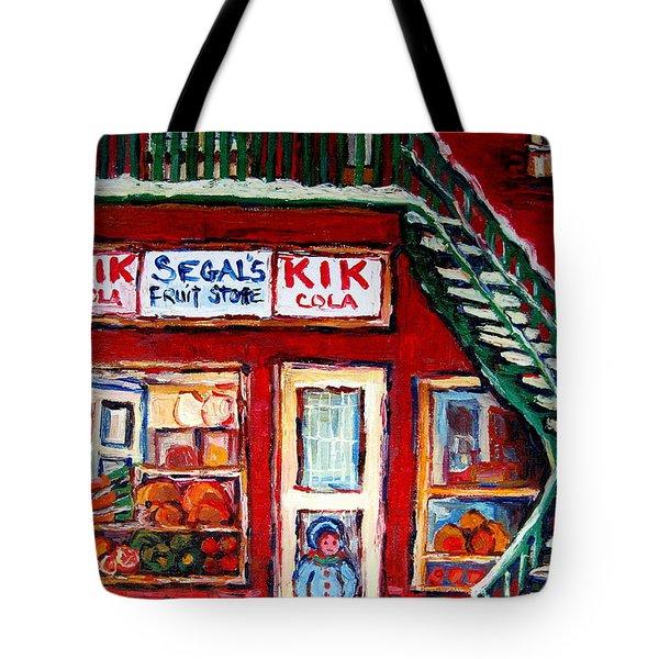 SEGAL'S MARKET ST.LAWRENCE BOULEVARD MONTREAL Tote Bag by CAROLE SPANDAU