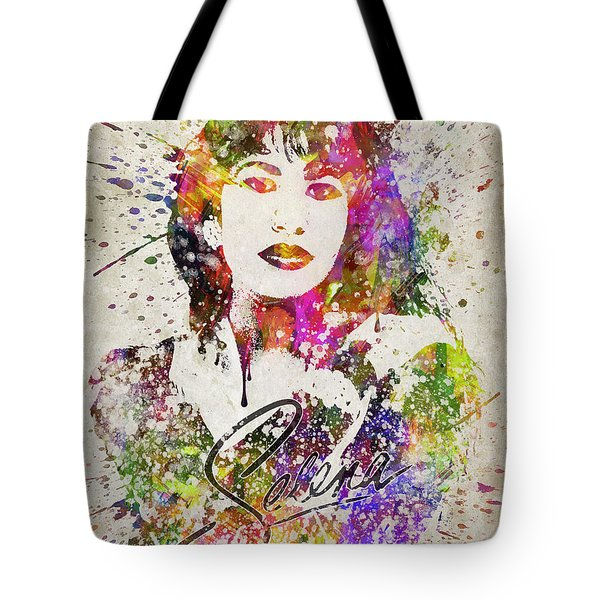 Selena Quintanilla In Color Tote Bag by Aged Pixel