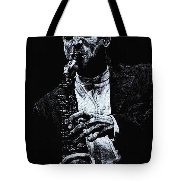 Sensational Sax Tote Bag by Richard Young