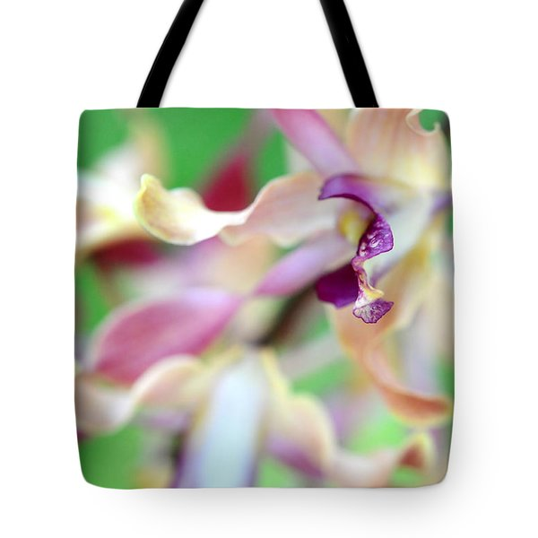Sensual Touch Of Exotic II. Orchid II Tote Bag by Jenny Rainbow