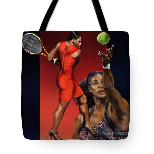 Sensuality Under Extreme Power - Serena The Shape Of Things To Come Tote Bag by Reggie Duffie