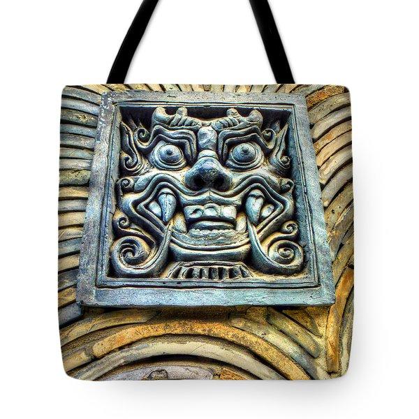 Seoul Mask Tile Tote Bag by Michael Garyet
