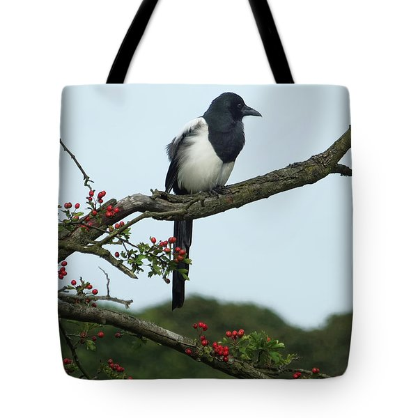 September Magpie Tote Bag by Philip Openshaw