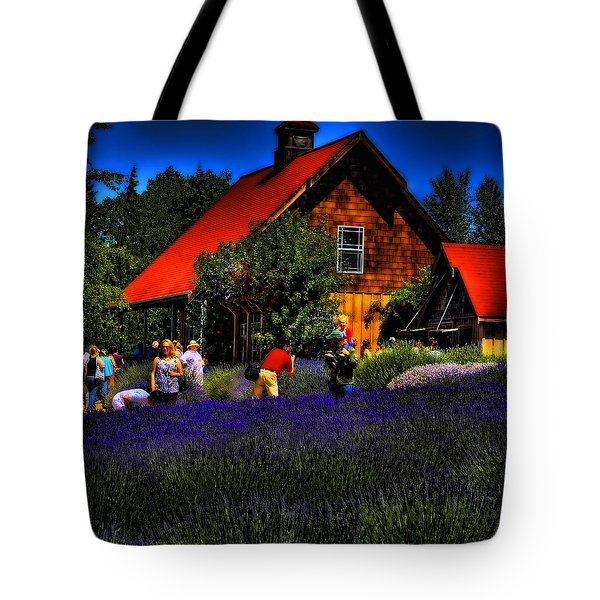 Sequim Lavender Tote Bag by David Patterson