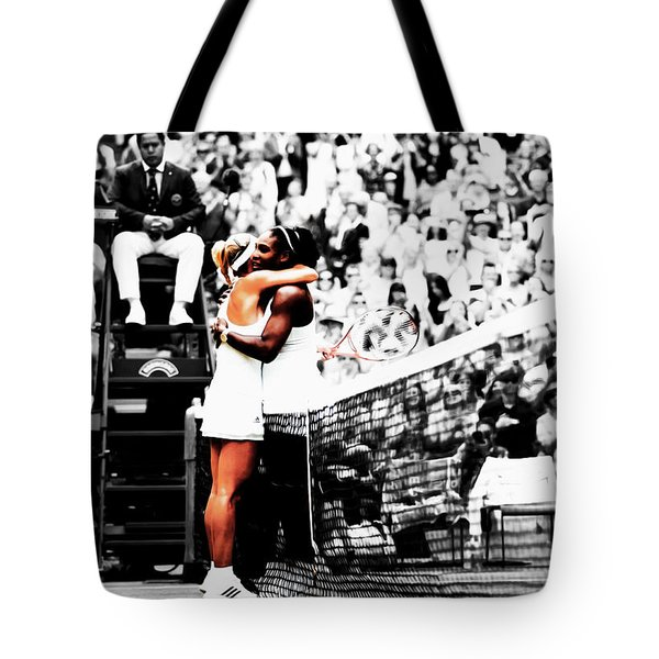 Serena Williams And Angelique Kerber 1a Tote Bag by Brian Reaves