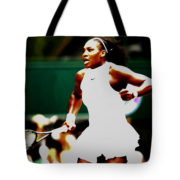 Serena Williams Making History Tote Bag by Brian Reaves