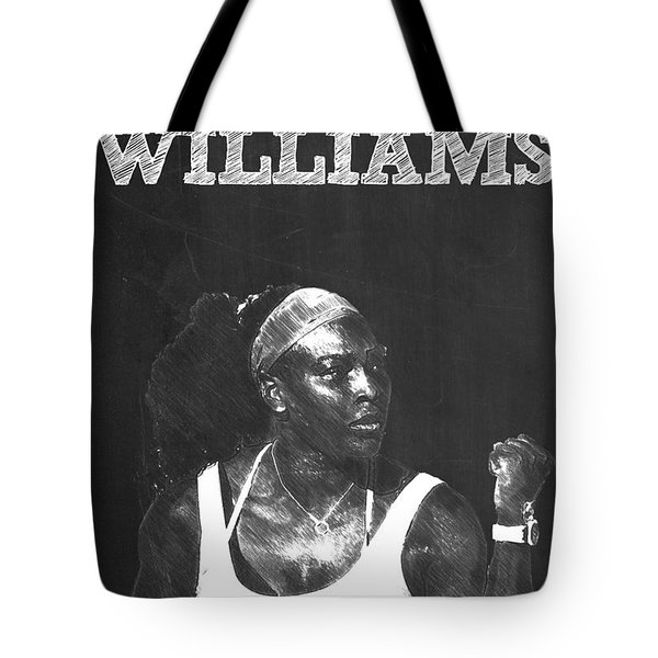 Serena Williams Tote Bag by Semih Yurdabak