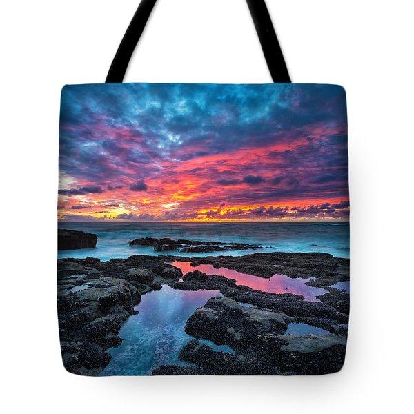 Serene Sunset Tote Bag by Robert Bynum